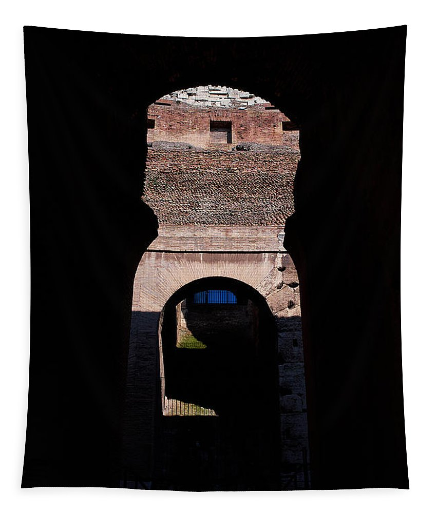 2013. Tapestry featuring the photograph Colosseum by Jouko Lehto