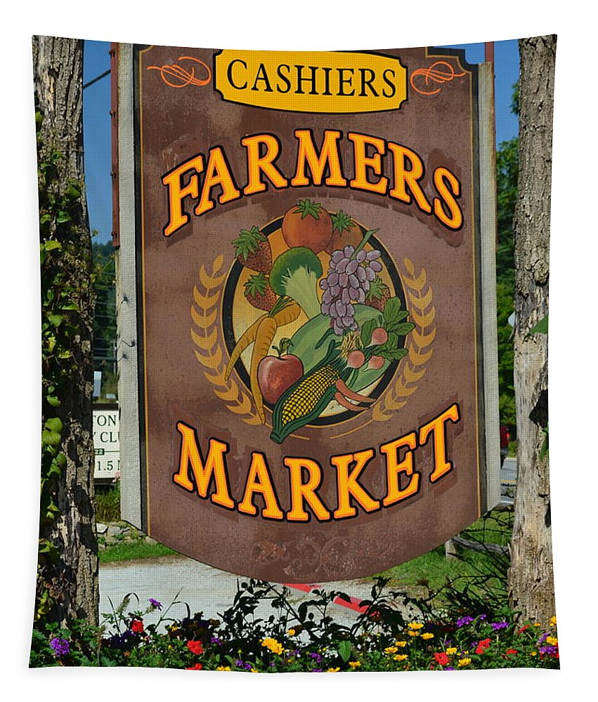 Farmer Tapestry featuring the photograph Farmers Market by Frozen in Time Fine Art Photography