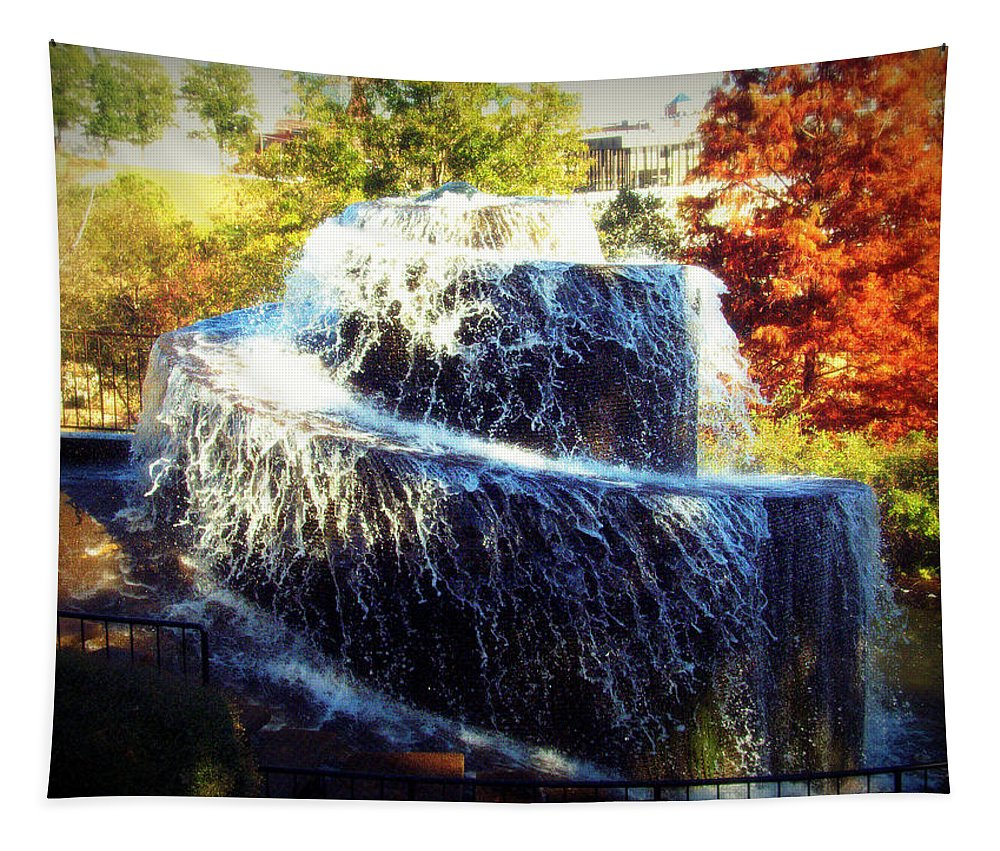 Finlay Park Fountain 3 Tapestry featuring the photograph Finlay Park Fountain 3 by Lisa Wooten