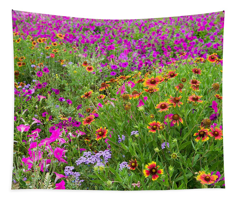 Wildflowers Tapestry featuring the photograph Garden Delight by Lynn Bauer