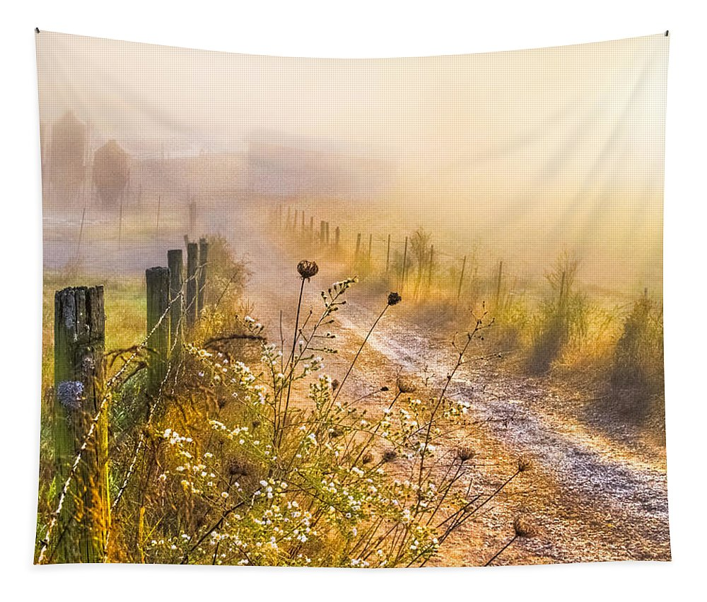 Appalachia Tapestry featuring the photograph Good Morning Farm by Debra and Dave Vanderlaan