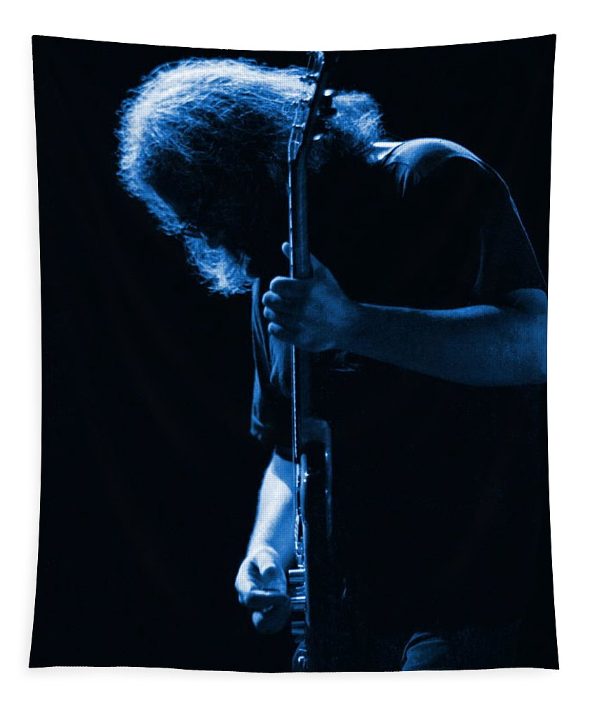Jerry Garcia Tapestry featuring the photograph Jerry Blue Sillow by Ben Upham
