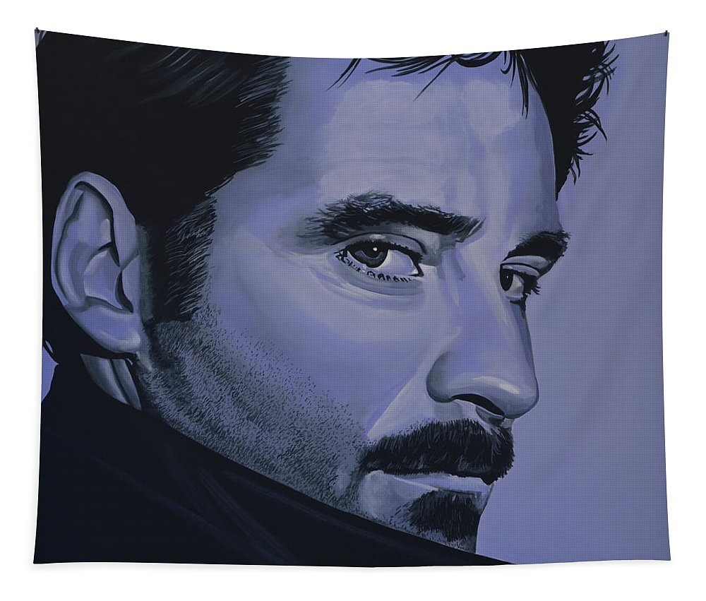 Kevin Kline Tapestry featuring the painting Kevin Kline by Paul Meijering