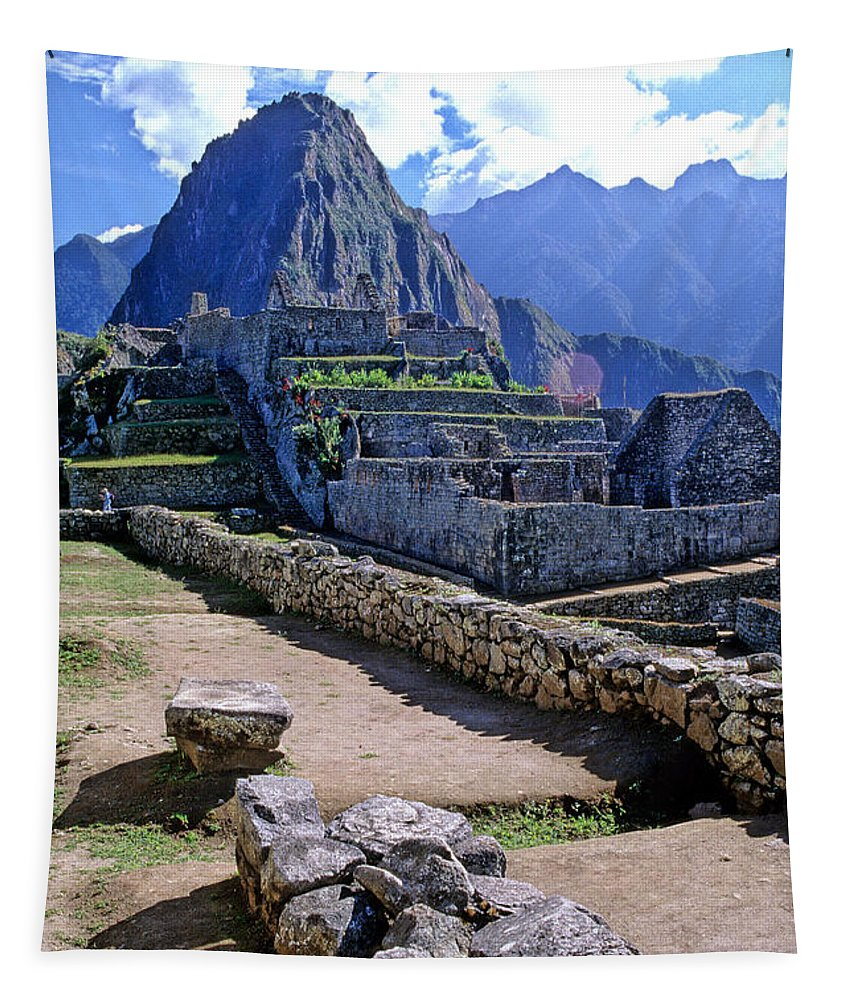 Machu Picchu Tapestry featuring the photograph Machu Picchu Peru by Ryan Fox