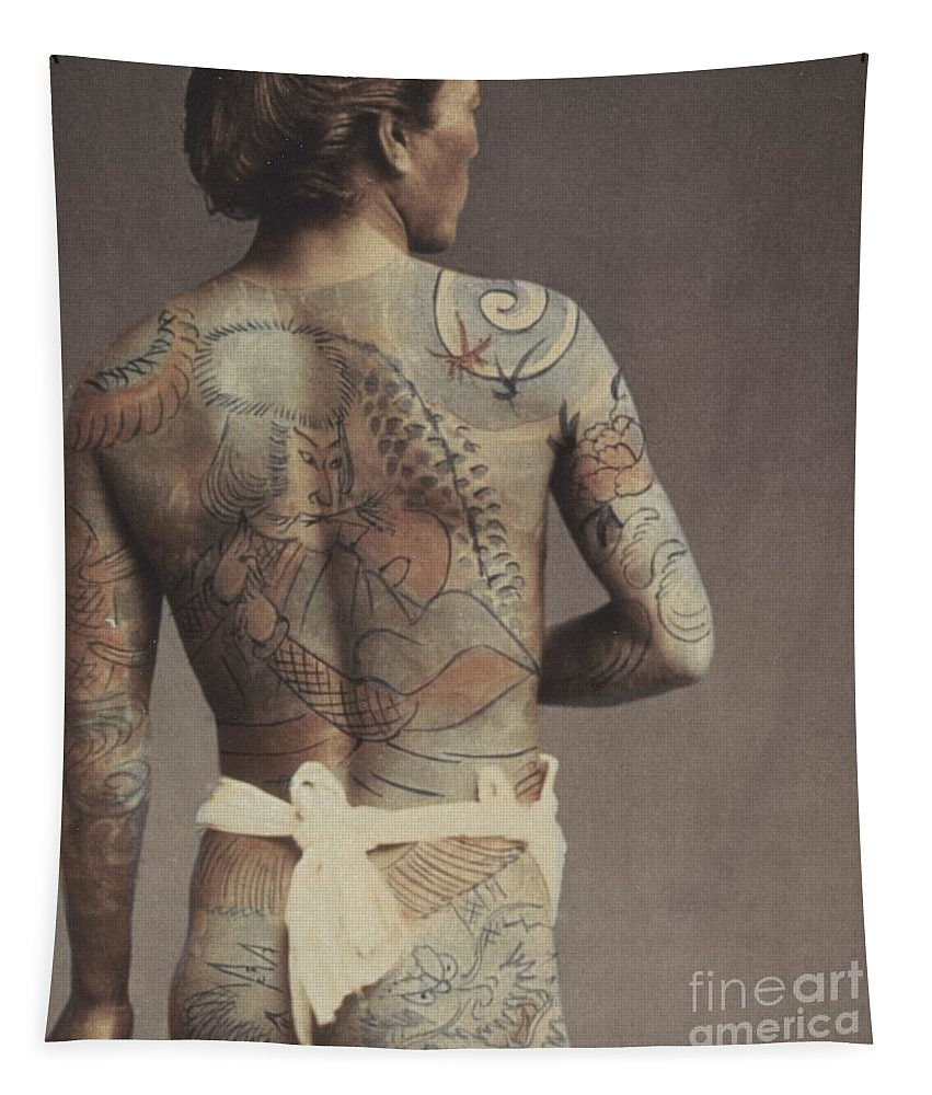 Man With Traditional Japanese Irezumi Tattoo Tapestry for Sale by ...