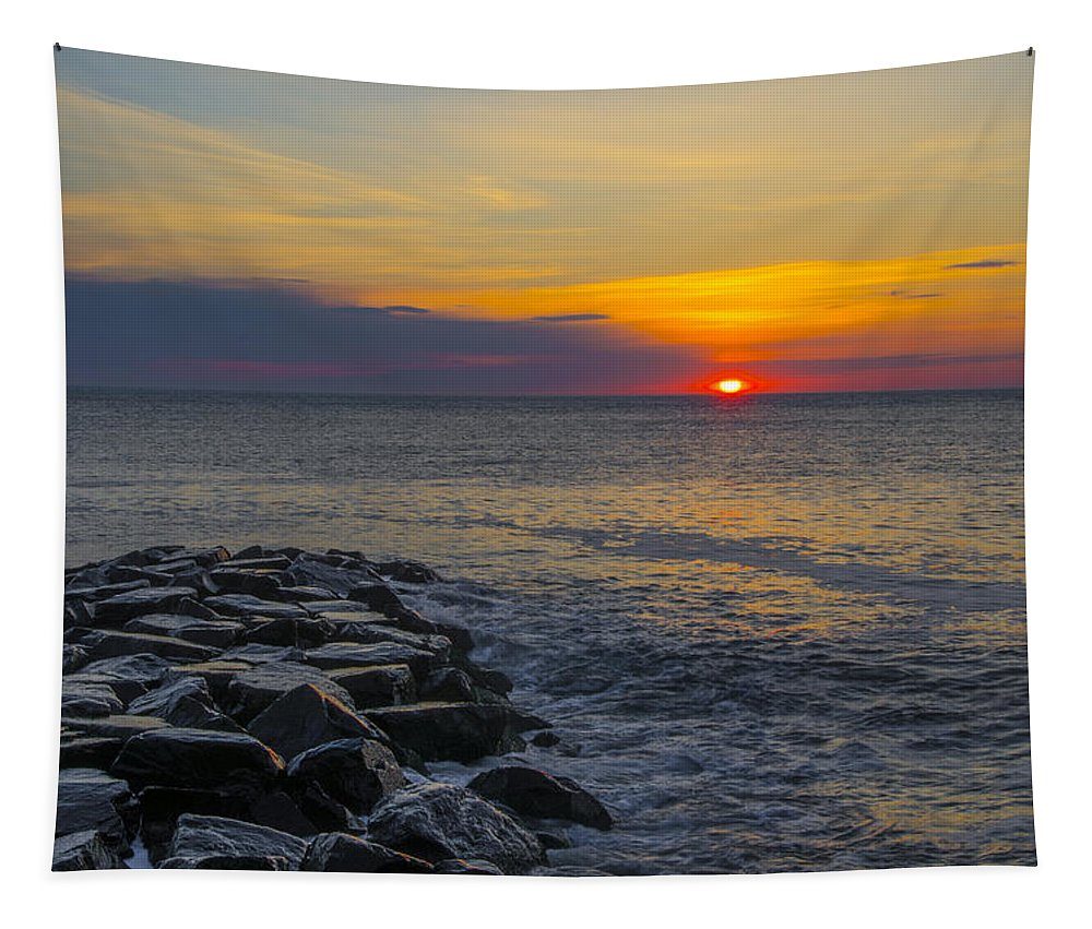 North Tapestry featuring the photograph North Wildwood Sunrise by Bill Cannon