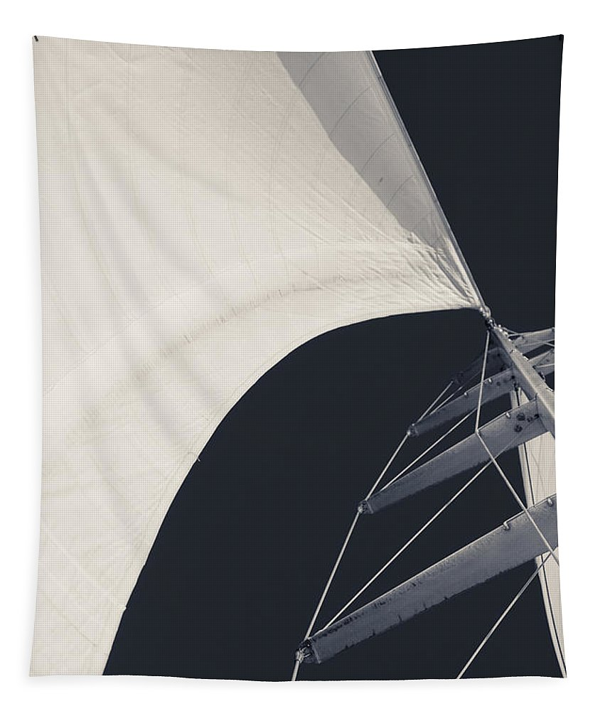 Sails Tapestry featuring the photograph Obsession Sails 10 by Scott Campbell