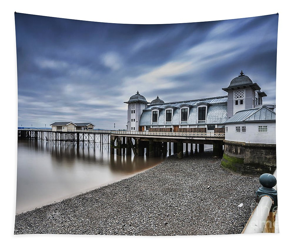 Penarth Pier Tapestry featuring the photograph Penarth Pier 1 by Steve Purnell