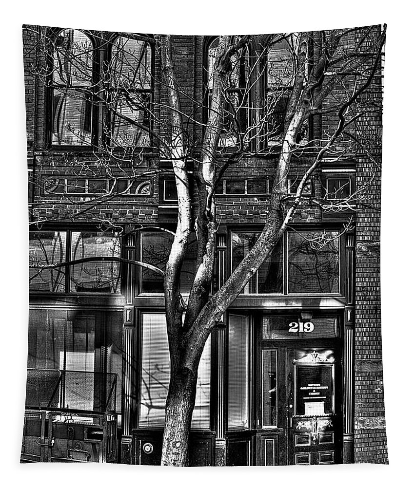 Black And White Tapestry featuring the photograph Pioneer Square No.1 by David Patterson
