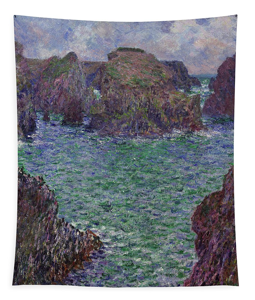 Claude Monet Tapestry featuring the painting Port-goulphar by Claude Monet