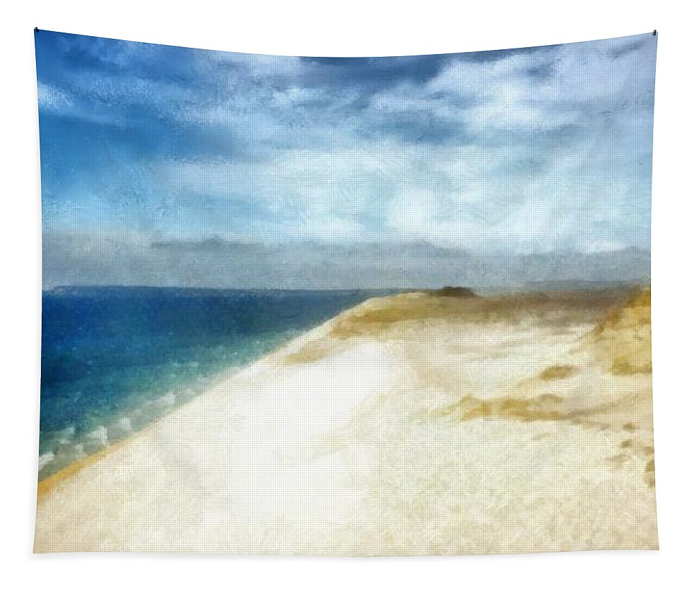 Sleeping Bear Dunes Tapestry featuring the photograph Sleeping Bear Dunes National Lakeshore by Michelle Calkins