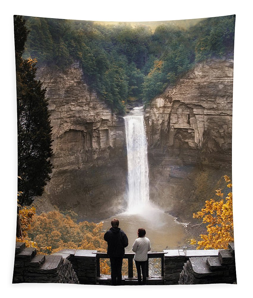 Nature Tapestry featuring the photograph Taughannock Falls by Jessica Jenney