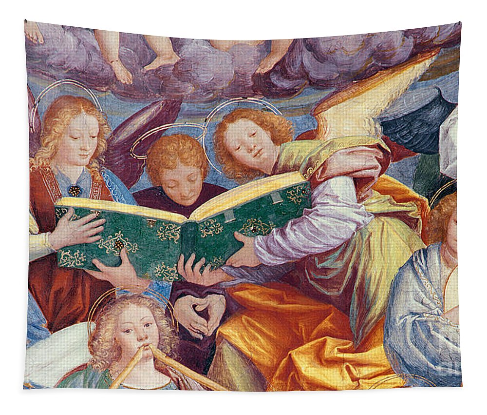 From The Dome Tapestry featuring the painting The Concert Of Angels by Gaudenzio Ferrari