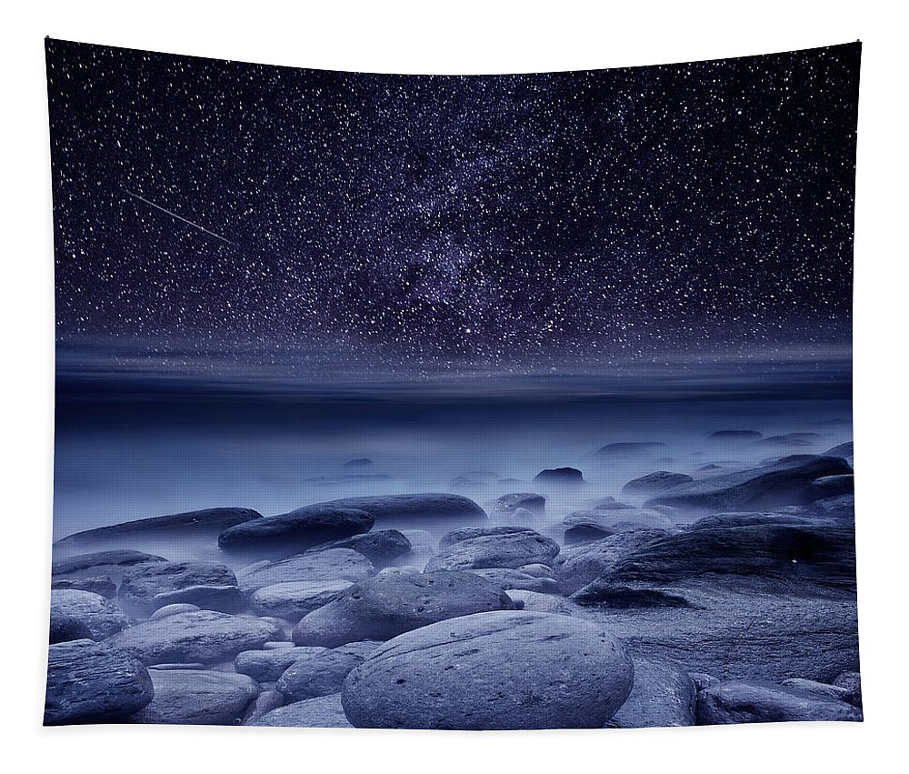 Night Tapestry featuring the photograph The cosmos by Jorge Maia