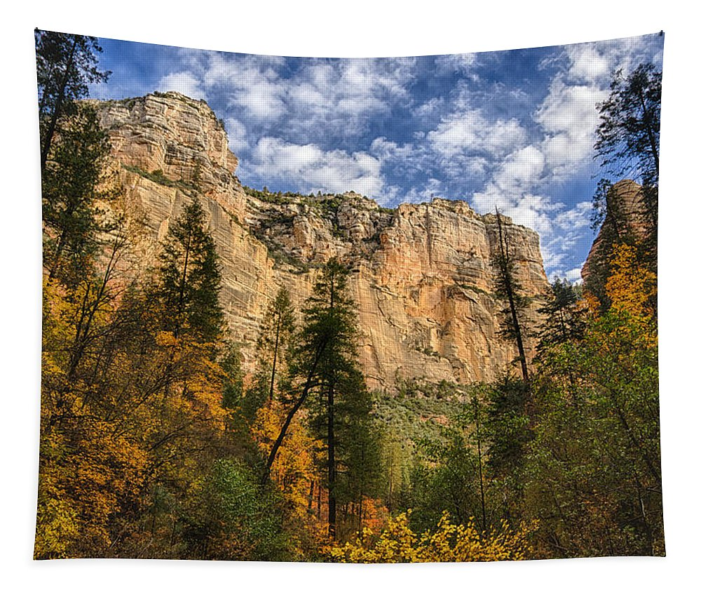 Fall Tapestry featuring the photograph The Hills Of Sedona by Saija Lehtonen