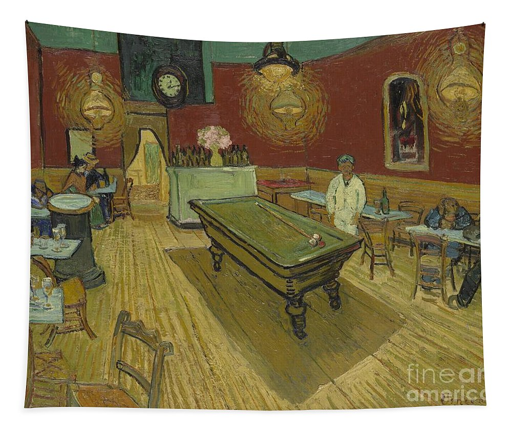 The Night Cafe Tapestry featuring the painting The Night Cafe by Vincent Van Gogh