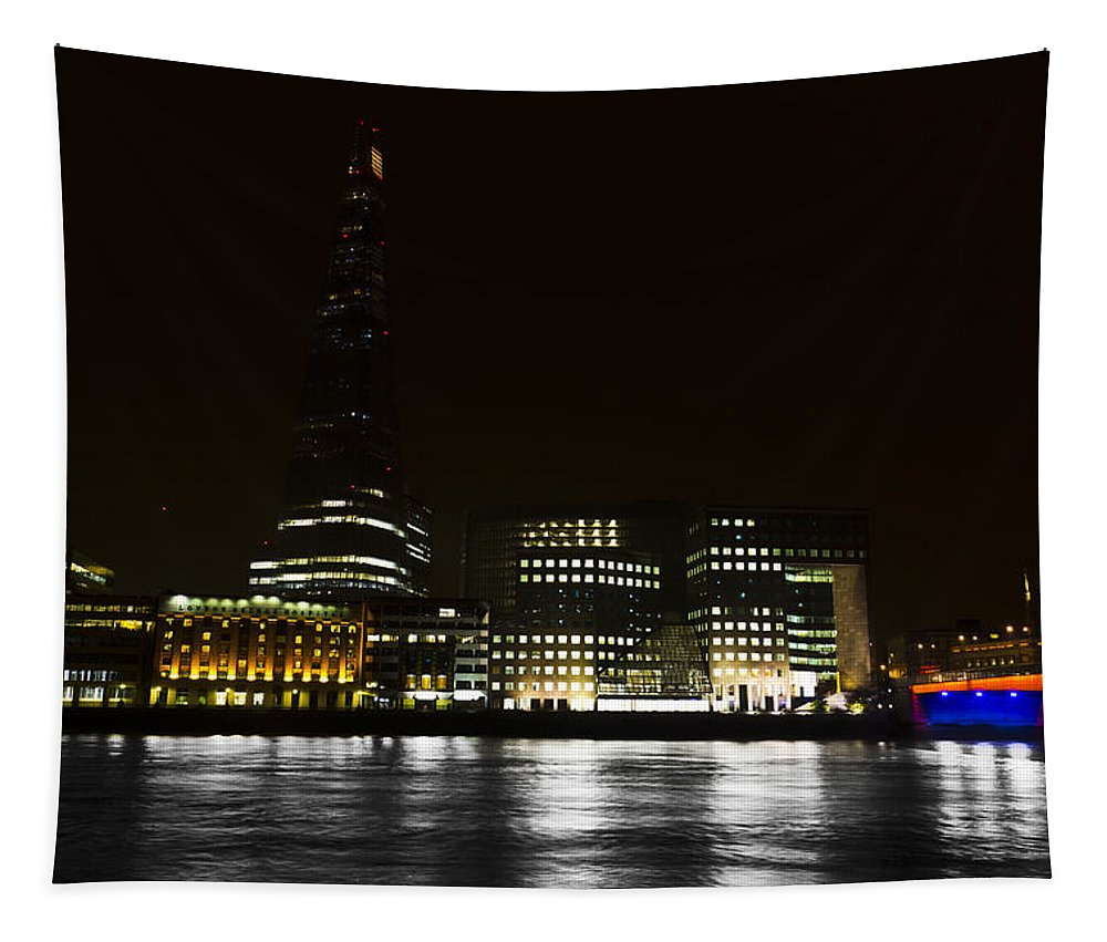 The Shard Tapestry featuring the photograph The South Bank London by David Pyatt