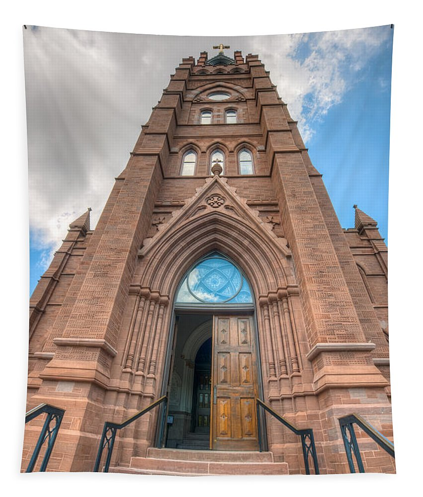 Church Tapestry featuring the photograph Touch The Sky by Dale Powell