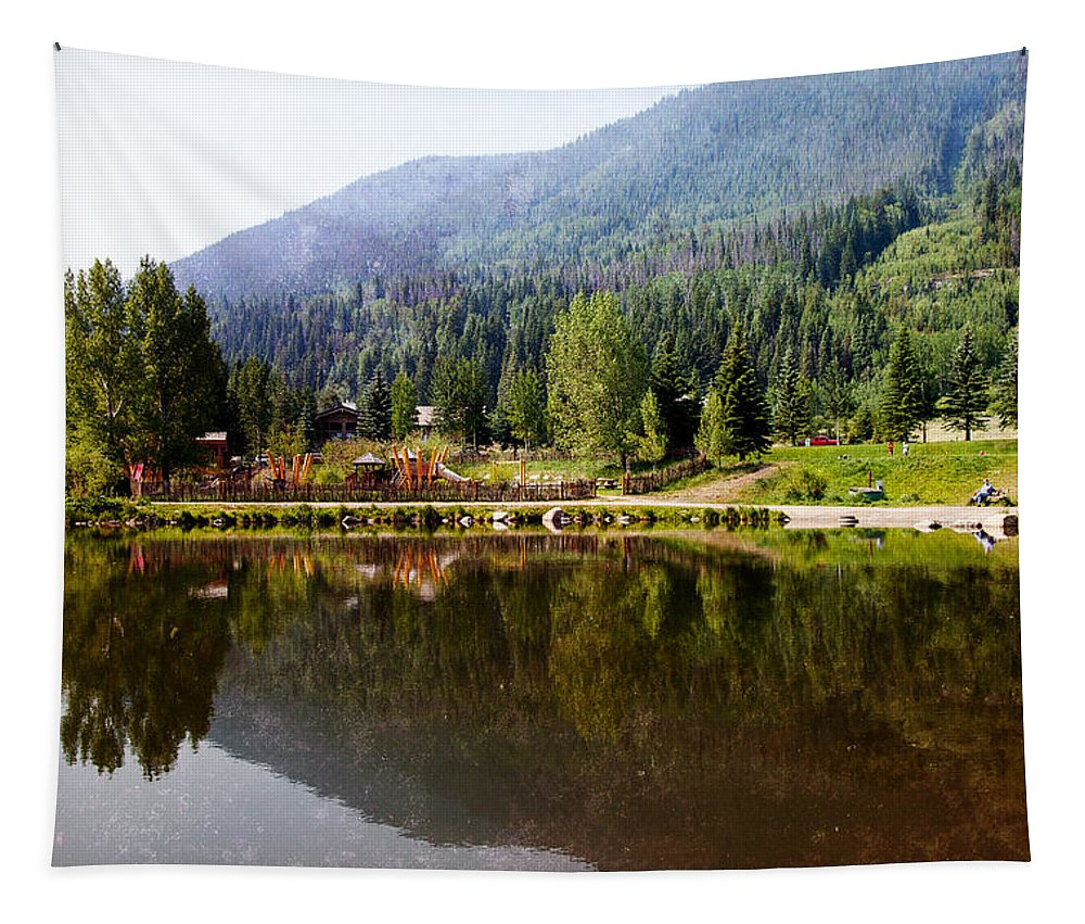 Vail Tapestry featuring the photograph Vail Reflections by Madeline Ellis