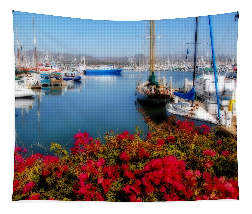 Ventura Harbor Tapestry featuring the photograph Ventura Harbor by Lynn Bauer