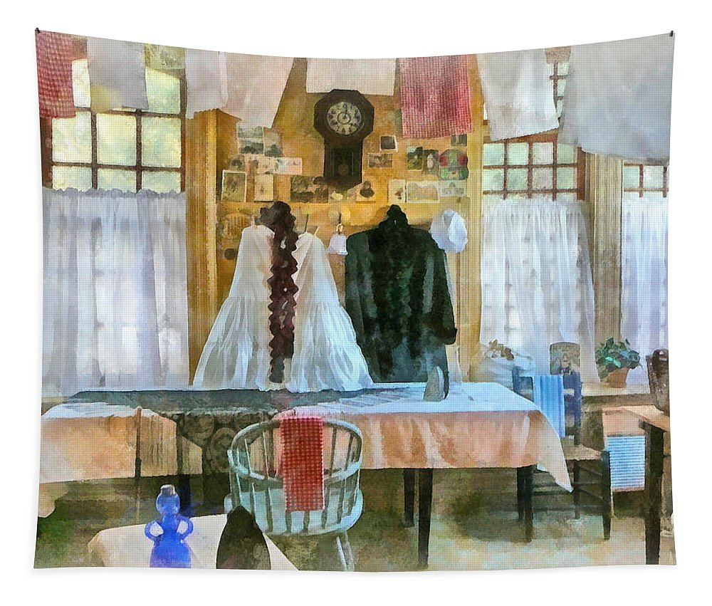 Wash Tapestry featuring the photograph Washday by Susan Savad