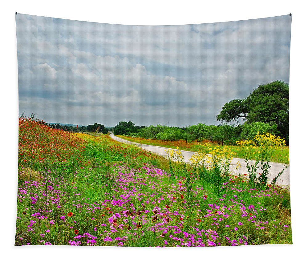 Landscape Tapestry featuring the photograph Wildflower Wonderland by Lynn Bauer