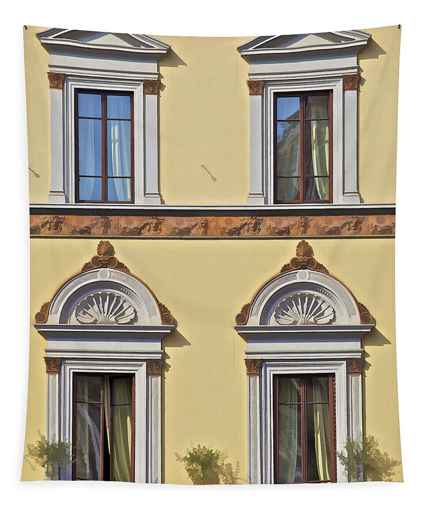 Archway Tapestry featuring the photograph Windows Of Tuscany by David Letts
