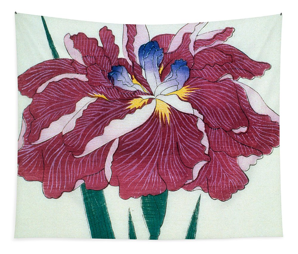 Floral Tapestry featuring the painting Japanese Flower by Japanese School