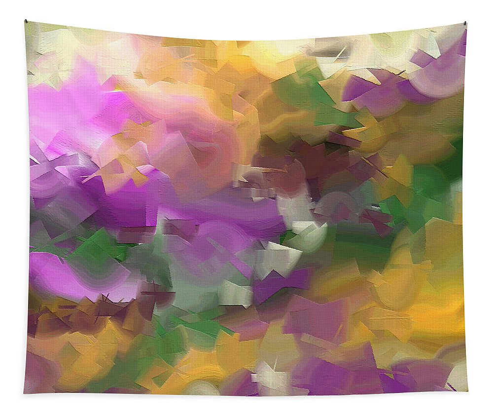 Abstract Tapestry featuring the painting 251a by Ely Arsha