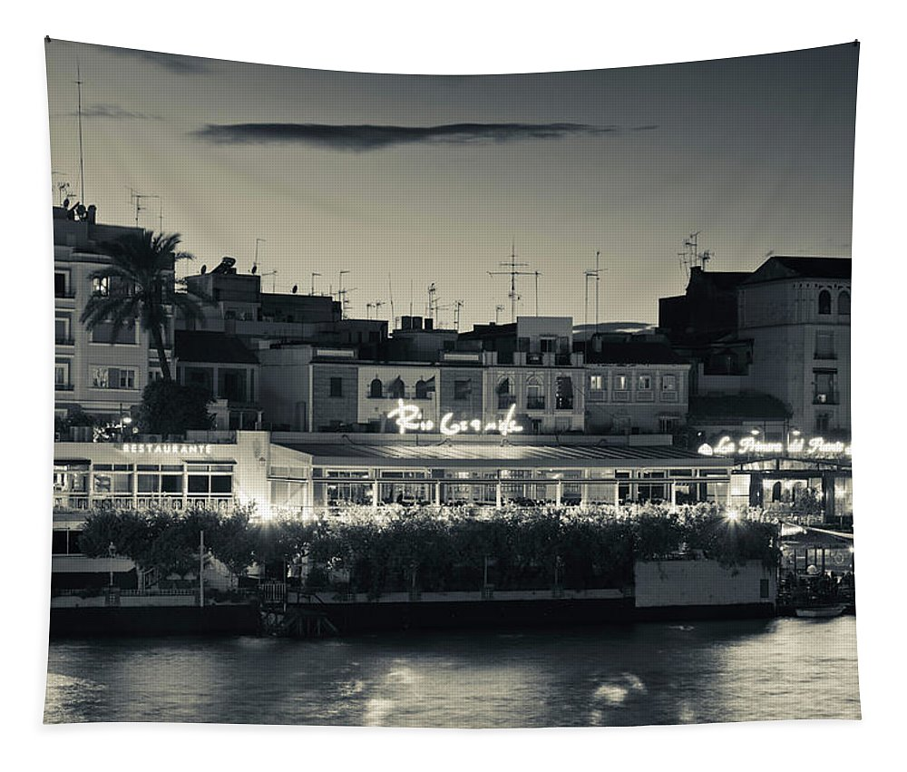 Photography Tapestry featuring the photograph Buildings At The Waterfront by Panoramic Images
