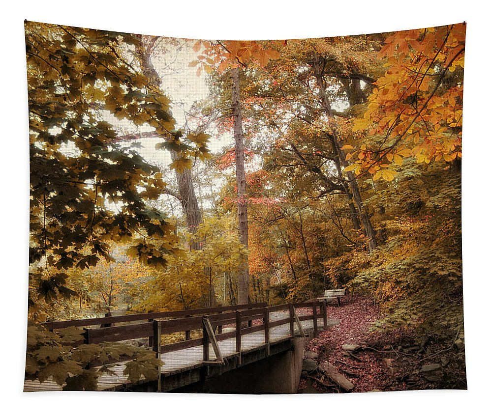 Autumn Tapestry featuring the photograph Autumn Awaits by Jessica Jenney
