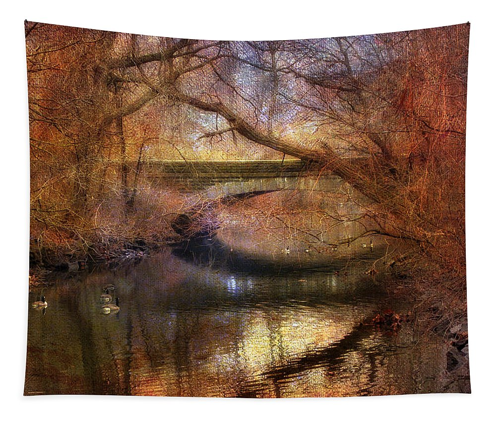 Autumn Tapestry featuring the photograph Autumn's End by Jessica Jenney