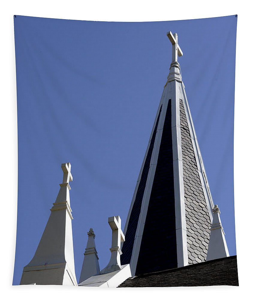 Harpers Ferry Tapestry featuring the photograph 3 Crosses by Paul W Faust - Impressions of Light