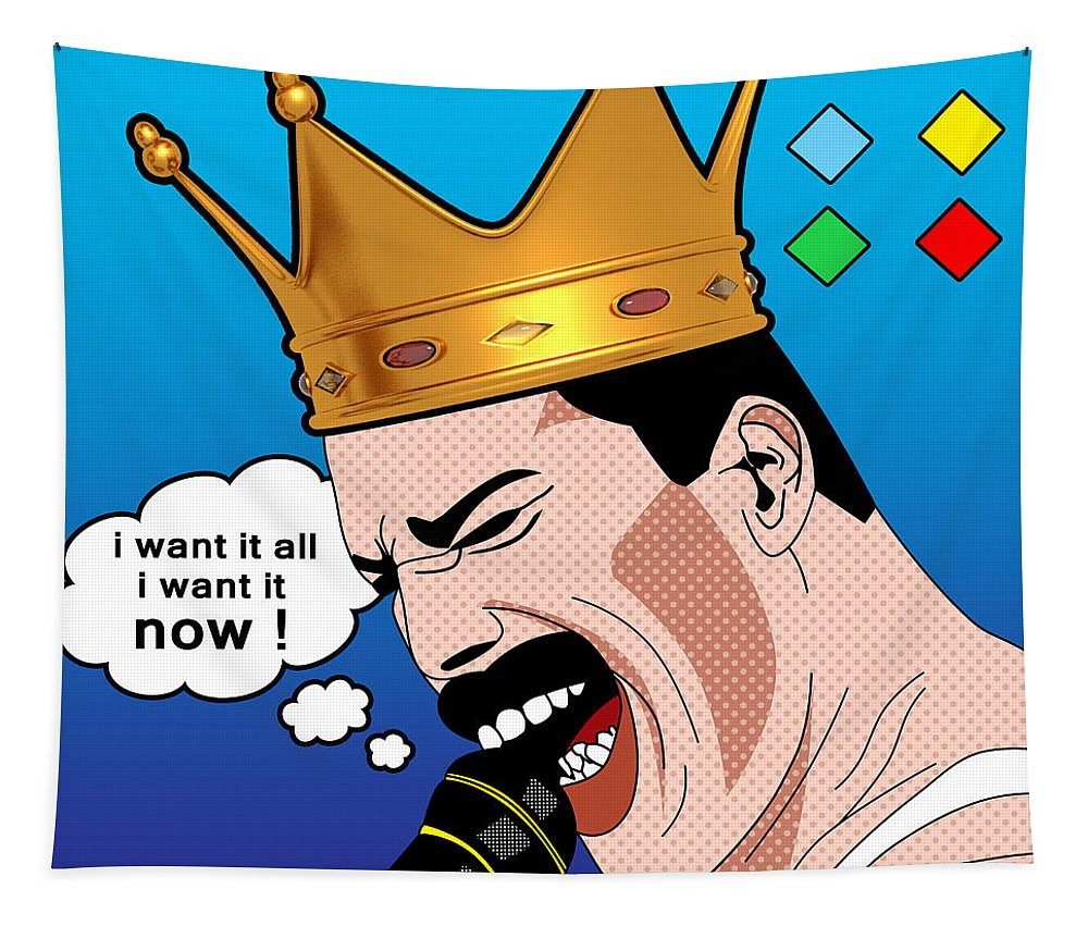 Freddie Mercury Tapestry for Sale by Mark Ashkenazi