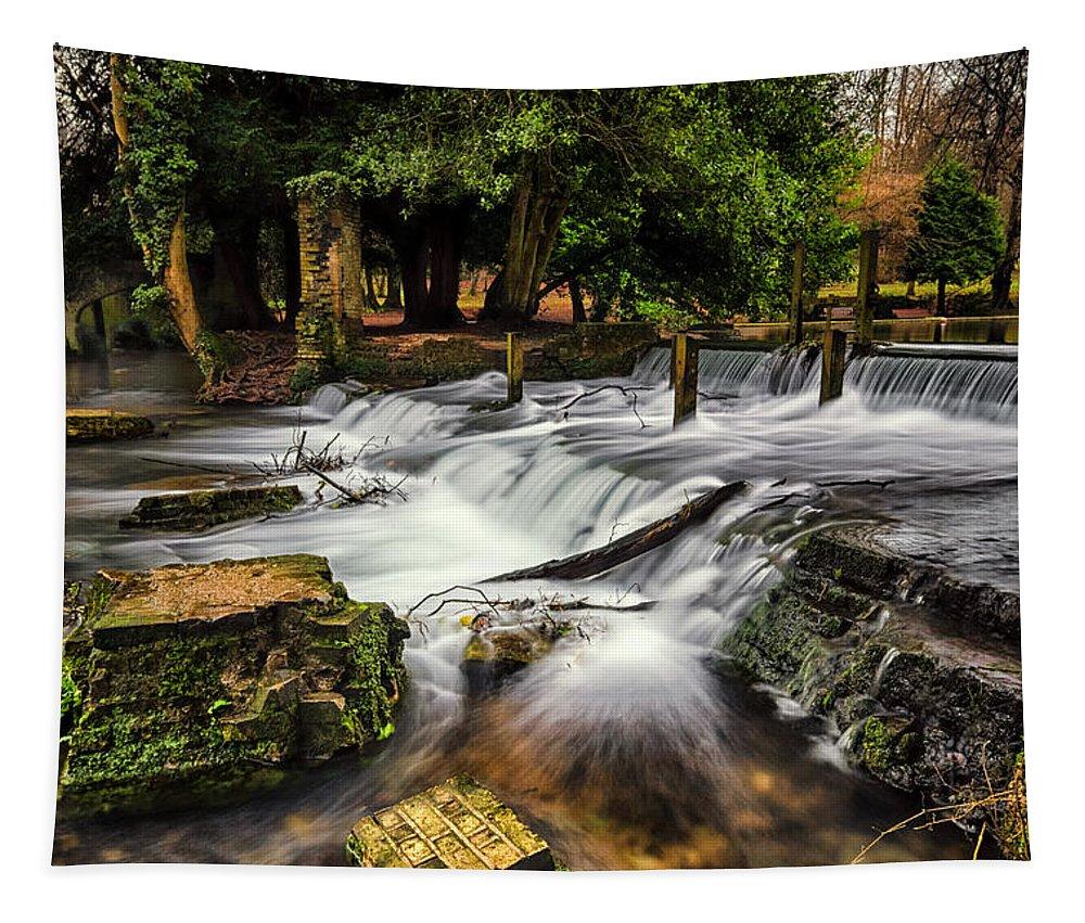 Kearsney Tapestry featuring the photograph Kearsney Abbey by Ian Hufton
