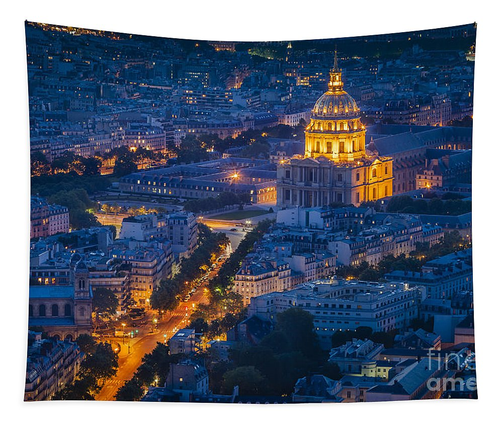Buildings Tapestry featuring the photograph Paris Overhead by Brian Jannsen