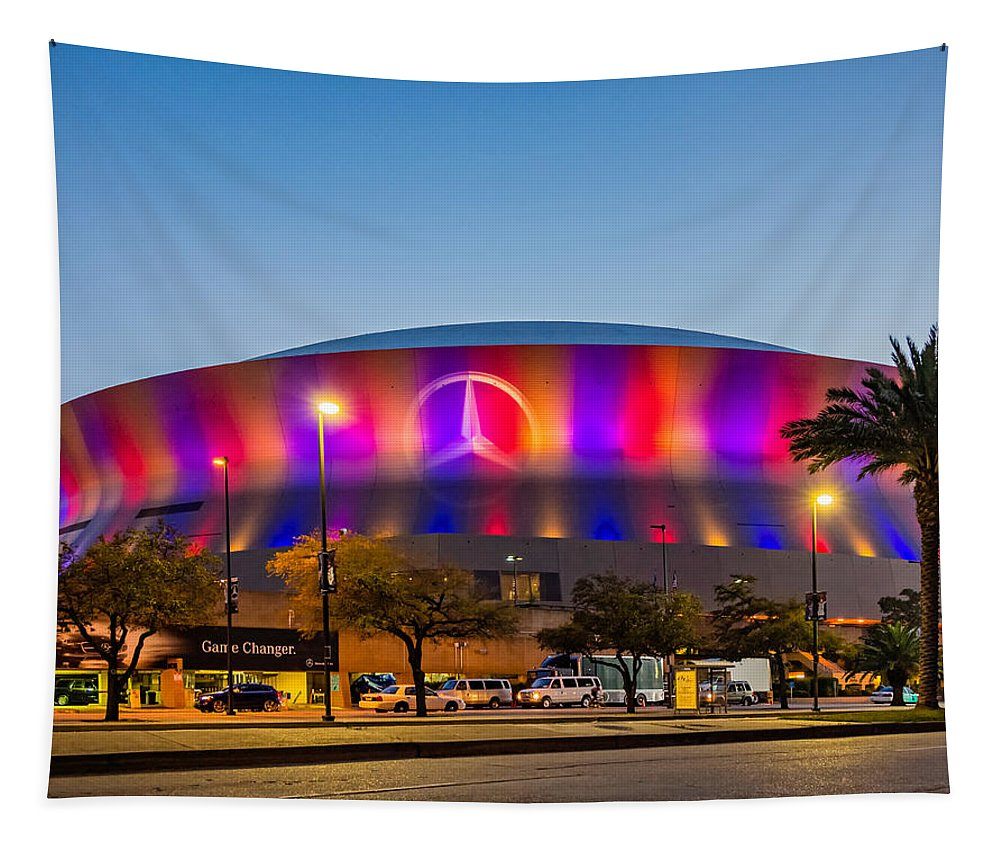 Nola Tapestry featuring the photograph Superdome by Steve Harrington