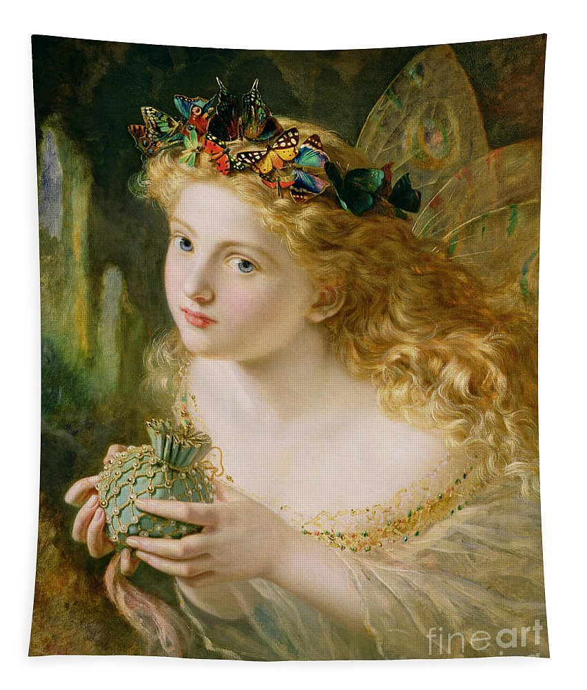 Female Tapestry featuring the painting Take The Fair Face Of Woman by Sophie Anderson