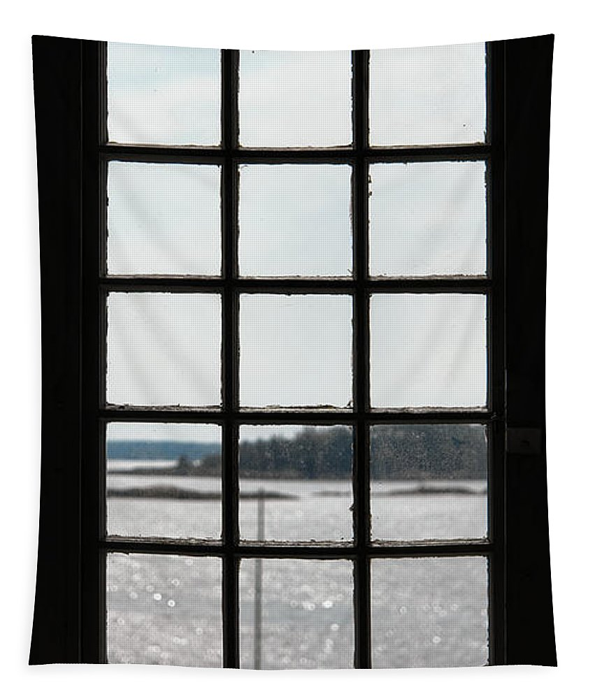 Boat Tapestry featuring the photograph Through An Old Window by Olivier Le Queinec