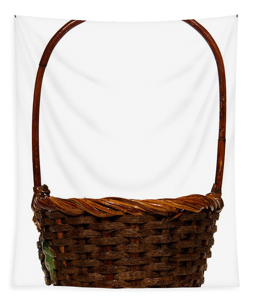 Basket Tapestry featuring the photograph Wicker Basket Number Ten by Olivier Le Queinec