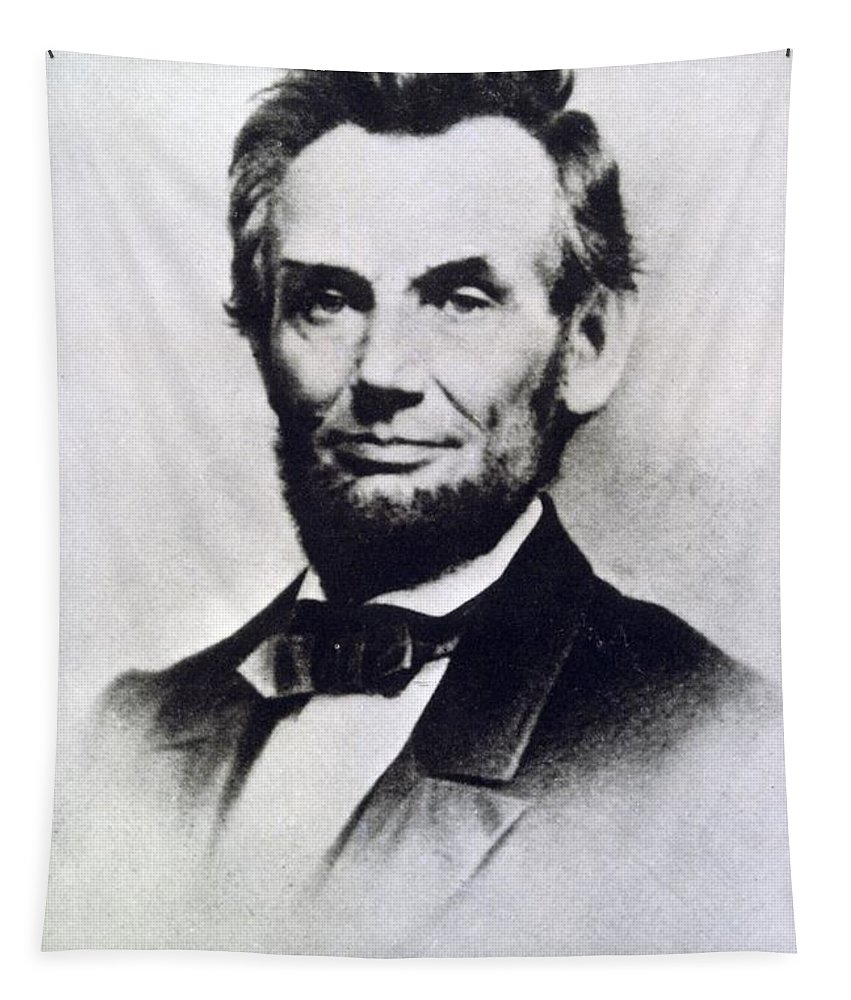 1809-1865 Tapestry featuring the photograph Abraham Lincoln by Anonymous