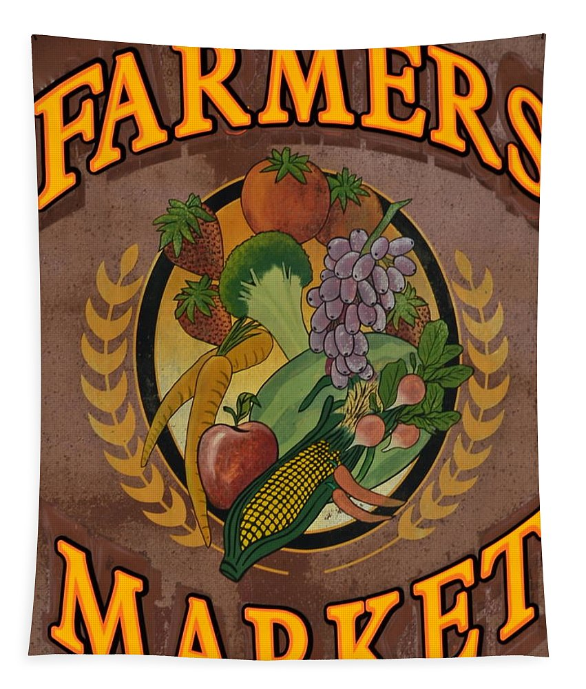 Farmers Tapestry featuring the photograph Farmers Market by Frozen in Time Fine Art Photography