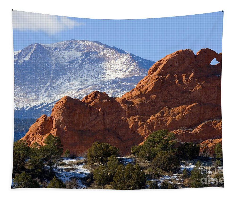 Garden Of The Gods Tapestry featuring the photograph Garden Of The Gods by Steve Krull