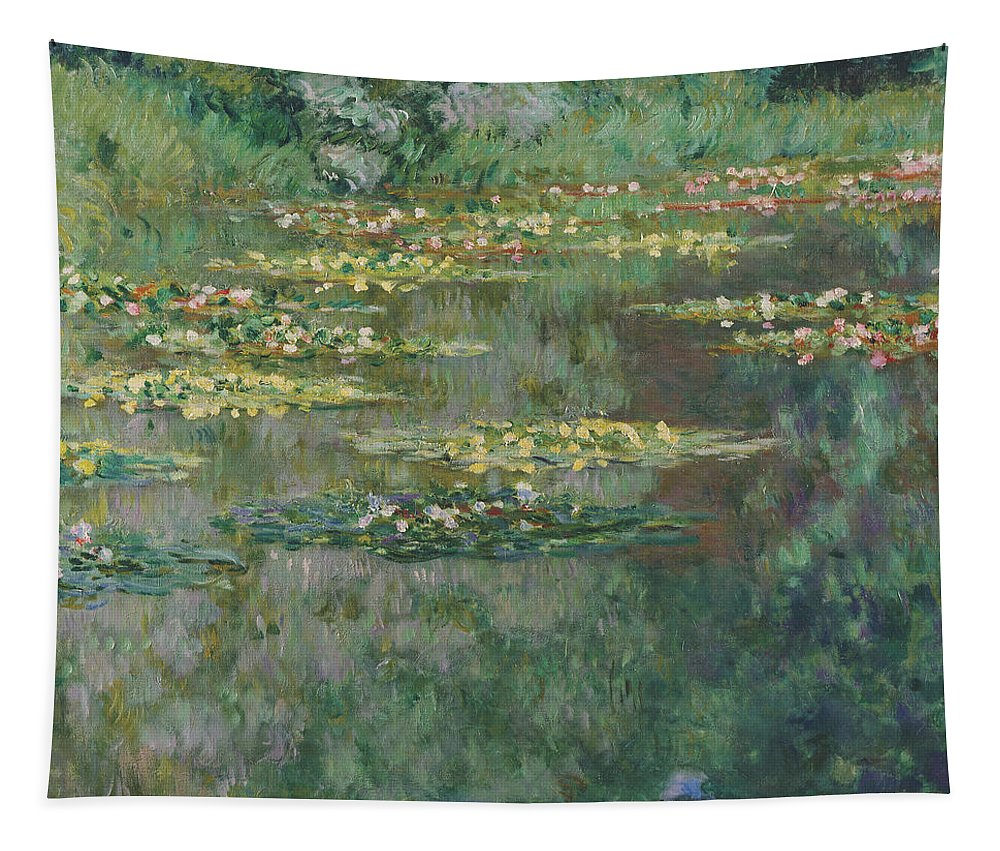 Claude Monet Tapestry featuring the painting Le Bassin Des Nympheas by Claude Monet