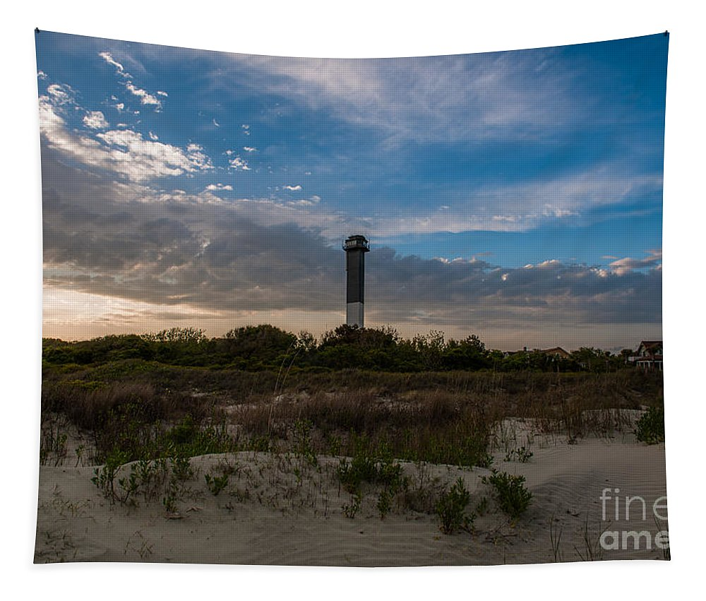 Sullivan's Island Tapestry featuring the photograph Lowcountry Character by Dale Powell