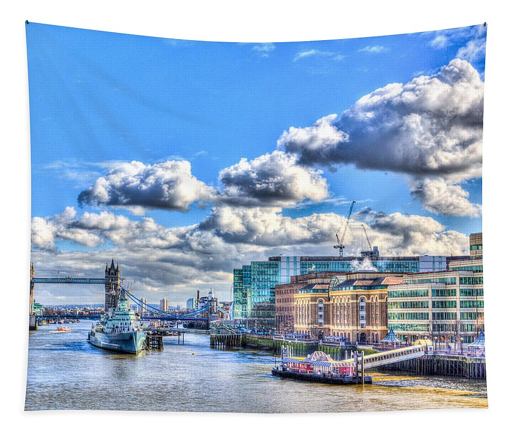 England Tapestry featuring the photograph The River Thames by David Pyatt