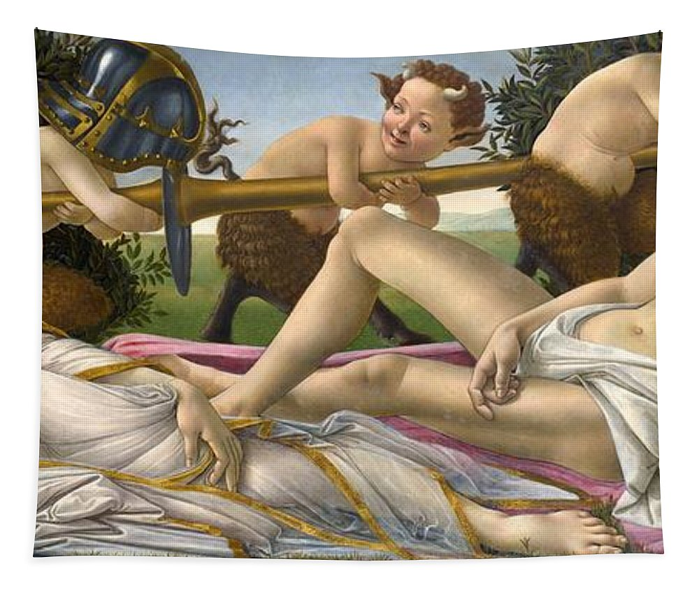 Venus And Mars Tapestry featuring the painting Venus And Mars by Sandro Botticelli