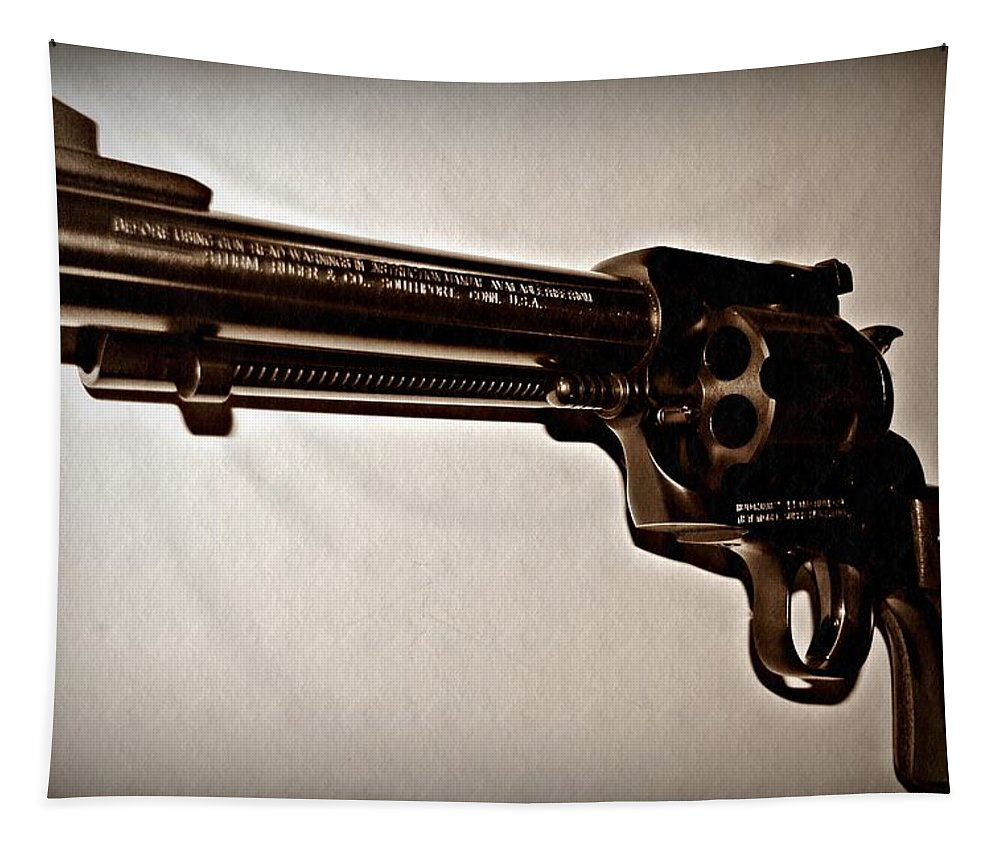 44 Magnum Tapestry featuring the photograph 44 Magnum by David Dehner