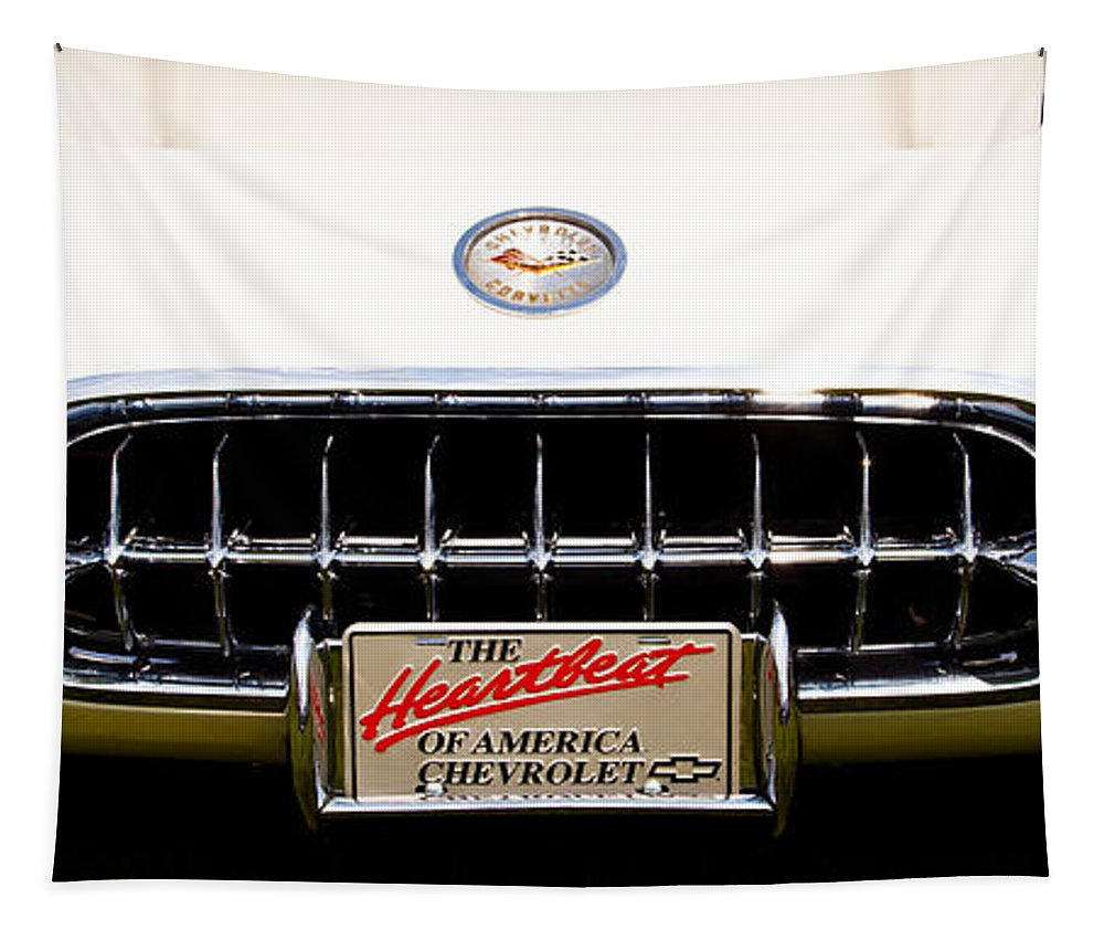 59 Tapestry featuring the photograph 1959 Chevy Corvette by David Patterson