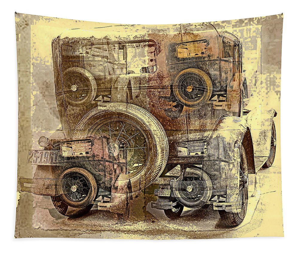 Antique Cars Tapestry featuring the photograph 5 A's by John Anderson